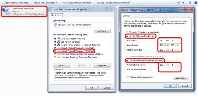 Setare IP static in Windows 7 sau Vista