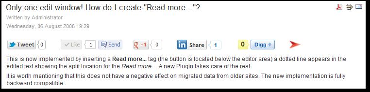 Asynchronous Social Buttons pentru Joomla