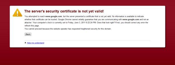 O problema cu certificatul de securitate