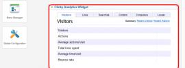 Clicky Web Analytics Widget pentru Joomla