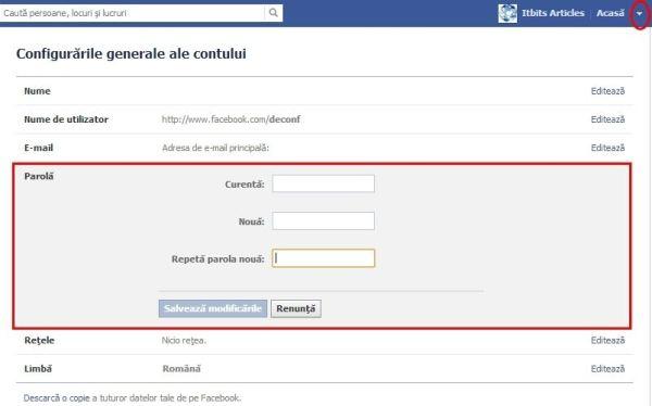 Facebook online parola aflare Sparge conturi