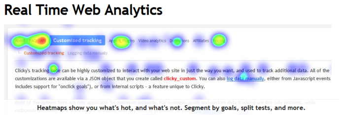 Clicky Analytics Heatmaps