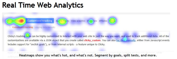 Clicky Analytics Heatmaps