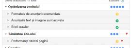 Google Adsense Scorecard - Tabel cu Date